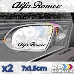 Scritta Alfa Romeo Specchietti