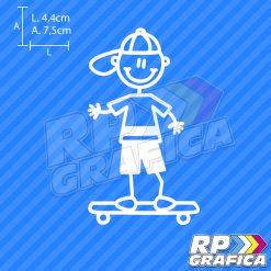 Bambino con skateboard - Adesivi Famiglia