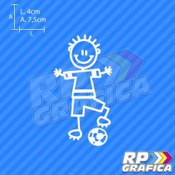 Bambino giocatore con pallone - Adesivi Famiglia