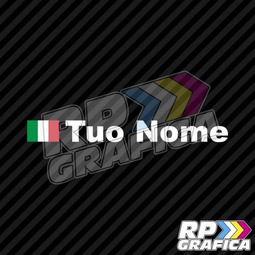 Bandiera Italia + Nome