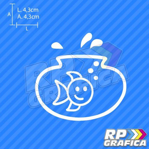 Pesce acquario - Adesivi Famiglia