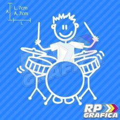 Ragazzo che suona la batteria - Adesivi Famiglia